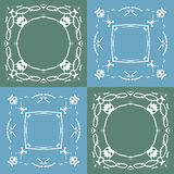 Seamless pattern with abstract hand drawn frames Stock Photo