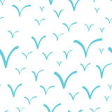 Seamless pattern with abstract hand drawn seagulls on a white background. Royalty Free Stock Photo