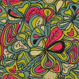 Seamless pattern abstract hand-drawn vegetation texture Royalty Free Stock Photography