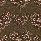 Seamless pattern with abstract heart Royalty Free Stock Photography