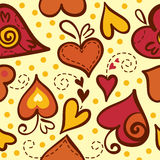 Seamless pattern with abstract hearts. Valentine Day illustration Royalty Free Stock Photos