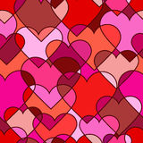 Seamless pattern of abstract hearts Royalty Free Stock Image