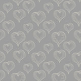 Seamless pattern with  Abstract Hearts Stock Photography