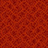 Seamless pattern with abstract irregular wavy red grid on black background stock illustration