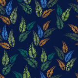 Seamless pattern with abstract leaves Stock Images