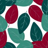 Seamless pattern with abstract leaves. Hand drawn pattern. Background, covers, textiles Royalty Free Stock Photos