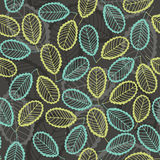Seamless pattern  of abstract leaves. Hand-drawn floral backgrou Stock Image