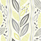 Seamless pattern  of abstract leaves. Hand-drawn floral backgrou Stock Photo