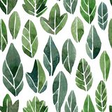 Seamless pattern with abstract leaves Stock Image