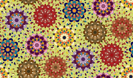 Seamless pattern with abstract mandala ornament Royalty Free Stock Photo