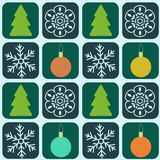 Seamless pattern. Abstract new year decorative pattern Royalty Free Stock Photography