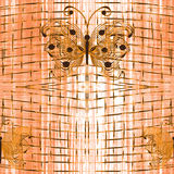 Seamless pattern with abstract openwork butterfly Royalty Free Stock Image