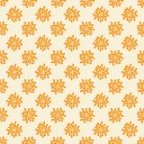 Seamless pattern with abstract orange flowers Stock Image