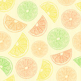 Seamless pattern with abstract oranges Stock Photos