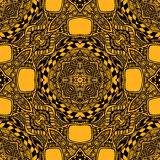 Seamless pattern from abstract  ornament black orange. Colors in East or Arabic style for decorate clothe interior or for making  computer game or for package Royalty Free Stock Photo