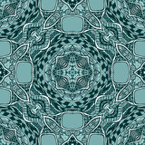 Seamless pattern from abstract  ornament marine blue. Black white colors in East or Arabic style for decorate clothe interior or for making  computer game or Stock Photos