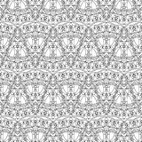 Seamless pattern - abstract ornamental triangles background Stock Photo