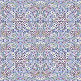 Seamless pattern. Abstract painting. Canvas. Psychedelic ornate pattern. Oriental ornamental. Stock Photos