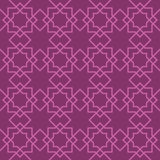Seamless Pattern Abstract Patchwork With Geometric Ornament In Vintage Asian Style. Vector Illustration Stock Image