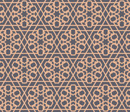 Seamless Pattern Abstract Patchwork With Geometric Ornament In Vintage Asian Style. Vector Illustration Stock Photos