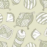 Seamless pattern of abstract pillows Royalty Free Stock Photos