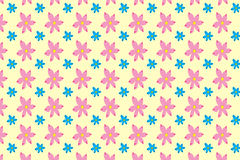 Seamless pattern of abstract pink and blue flowers. On a beige background vector illustration