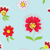 Seamless pattern with abstract red flower Royalty Free Stock Photography