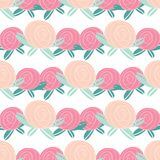 Seamless pattern with abstract rose flowers. Royalty Free Stock Photo