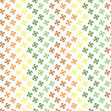 Seamless pattern with abstract shapes arranged zigzag Royalty Free Stock Photos