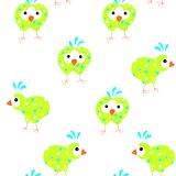 Seamless pattern of abstract sketch funny cartoons coloring birds stock vector illustration clipart Vector Illustration