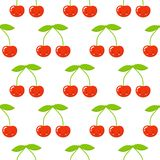 Seamless pattern with abstract smiling cherries. Wrapping paper, scrapbook paper, bedding pattern ilustration vector illustration