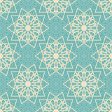 Seamless pattern with abstract snowflakes. Endless pattern for Christmas wrapping cards or wrapping paper. Stock Photo