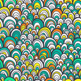 Seamless pattern with abstract stylized hand drawn scale texture Stock Photography