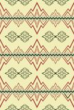 Seamless pattern with abstract symbols of mountains and rivers Stock Photography