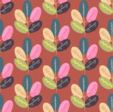 Seamless pattern with abstract trees. Colorful creative repeating background Royalty Free Stock Photos