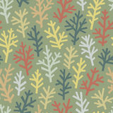Seamless pattern with abstract trees Royalty Free Stock Images