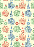Seamless pattern with abstract trees Stock Images
