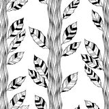 Seamless pattern with abstract trees on a white background. Stock Images