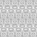 Seamless pattern - abstract triangles. Black and white backgroun Royalty Free Stock Photos