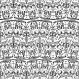 Seamless pattern - abstract triangles. Black and white background Royalty Free Stock Photo