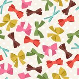 Seamless pattern with abstract various bows and Stock Image