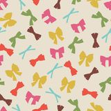 Seamless pattern with abstract various bows and Royalty Free Stock Photos