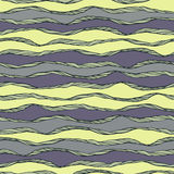 Seamless pattern with abstract waves ornament Stock Photography