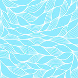 Seamless pattern with abstract waves. Wavy blue azure background. Vector wave texture. Stock Image