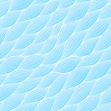 Seamless pattern with abstract waves. Wavy blue azure background. Vector wave texture. Stock Photography