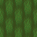 Seamless pattern abstract wavy lines on a green background Stock Photography