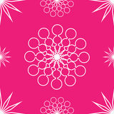 Seamless abstract stars on pink. Seamless pattern of abstract white stars on pink stock illustration