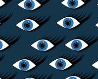 Seamless pattern of abstract woman eye Royalty Free Stock Image