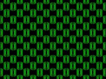 Seamless pattern. Abstraction geometric figure of green on a black background. Vector. Illustration Stock Photo