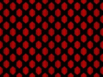 Seamless pattern. Abstraction geometric figure in red on a black background. Vector royalty free illustration